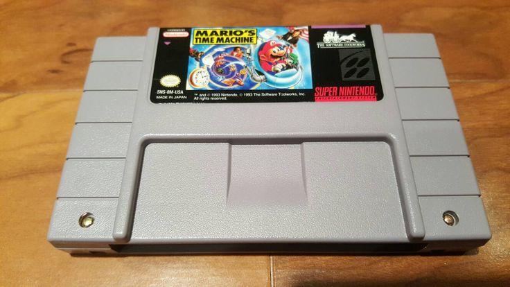 Mario's Time Machine super nintendo snes video game,  Mario's Time machine - pinned by pin4etsy.com