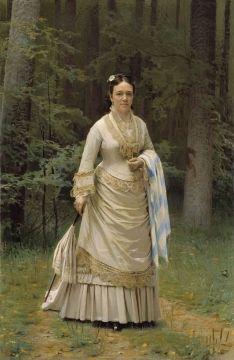 Portrait of Vera Tretyakova by  Ivan Nikolayevich Kramskoy, 1876. The State Tretyakov Gallery, Public Domain