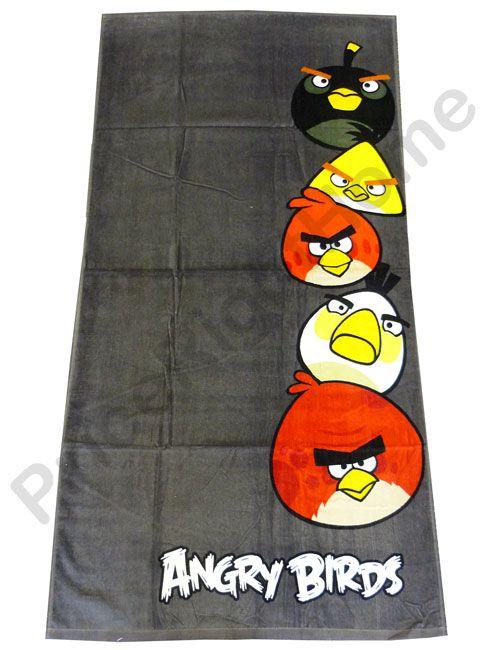 Super Comfy Angry Birds Towel.
