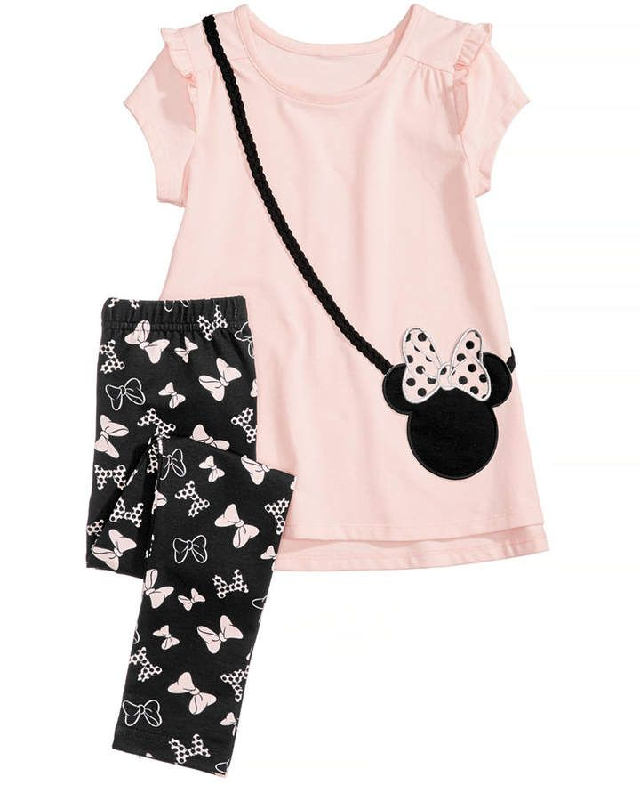 DISNEY MINNIE MOUSE BABY GIRLS 2 PIECE TOP AND JEGGINGS SET