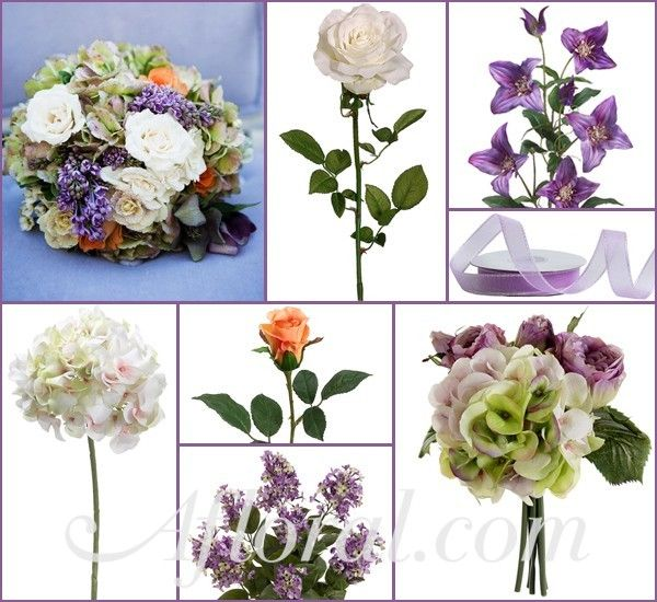 Peach & Lavender Wedding Flowers ~ Kylie's Inspiration Board