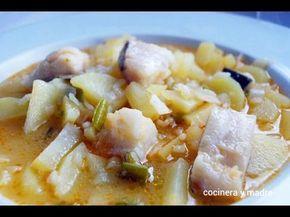 Patatas con arroz y bacalao - Cocinera y Madre