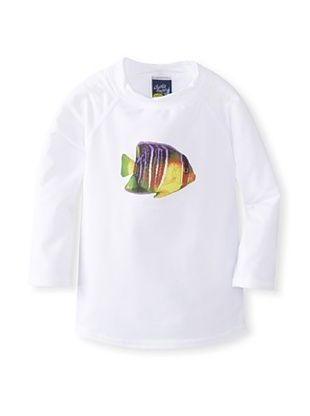37% OFF Charlie Rocket Boy's Aquarium Fish Rashguard (White)