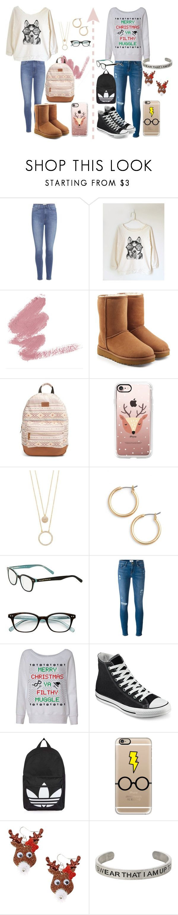 """""""Get To Know Me Day #10 &11"""" by iz-so-kray-kray ❤ liked on Polyvore featuring Paige Denim, UGG, Rip Curl, Casetify, Kate Spade, Nordstrom, Frame, Converse, Topshop and claire's"""