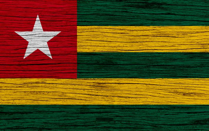 Download wallpapers Flag of Togo, 4k, Africa, wooden texture, Tog national flag, national symbols, Togo flag, art, Togo