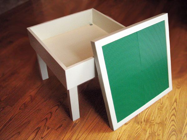 Lego Table with Storage and Removable Lego Top.
