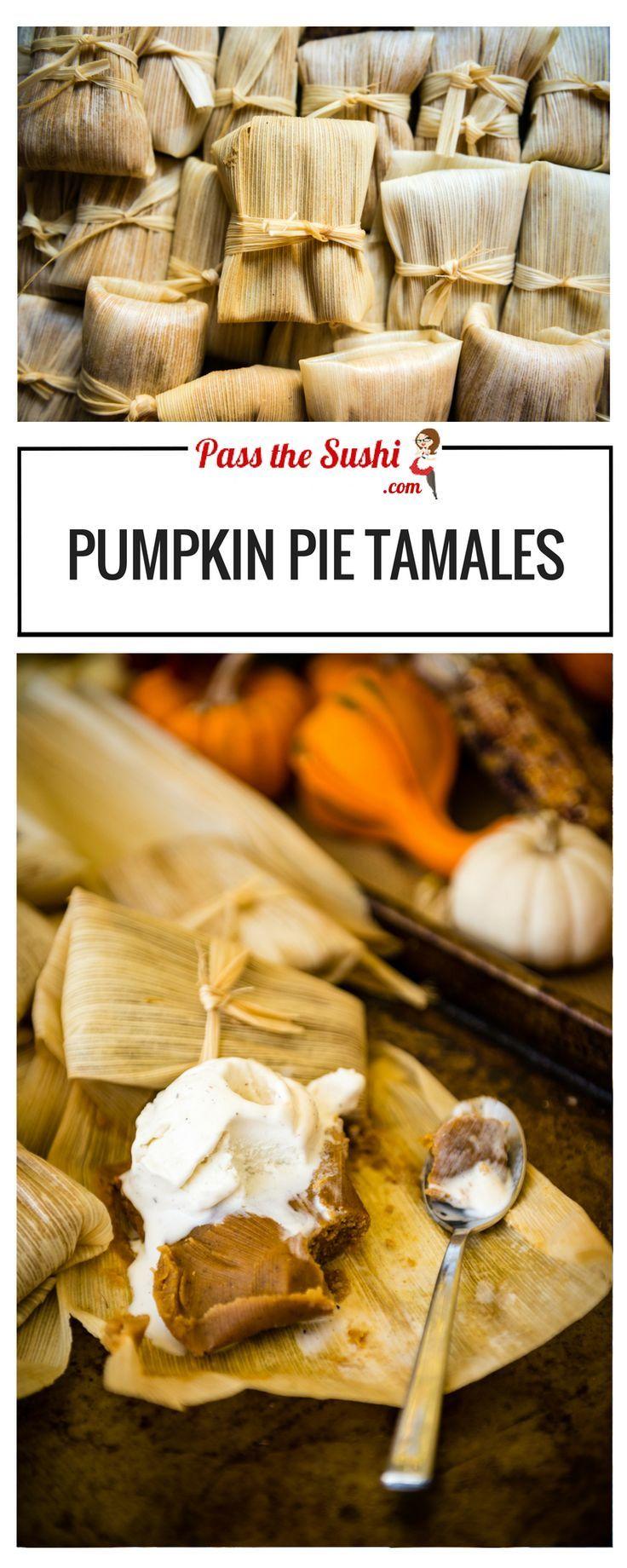 Pumpkin Pie Tamales | Recipe at http://PasstheSushi.com