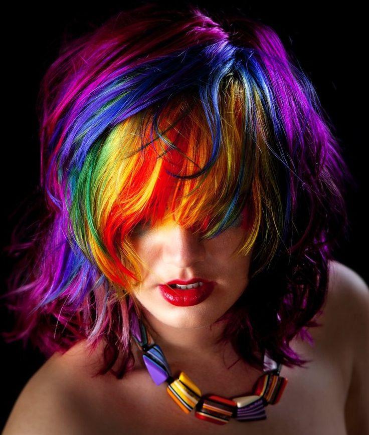 Messy Rainbow Hair
