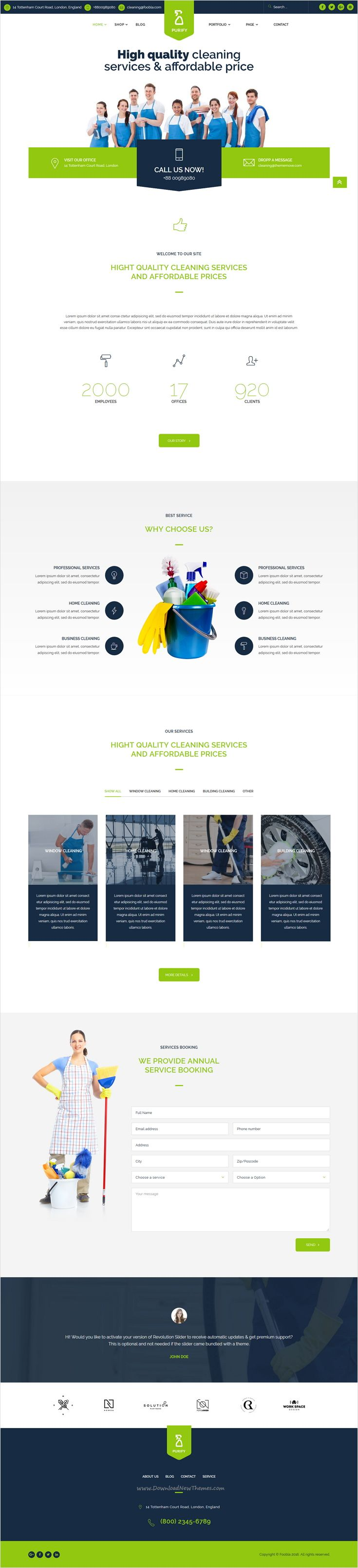 Purify is professional and modern design #Joomla #theme for #cleaning services…