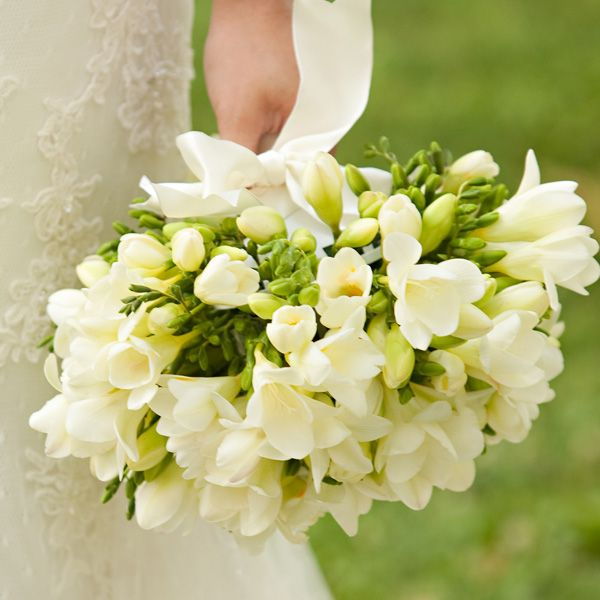 13 best sweet smelling flowers images on pinterest wedding bridal bouquet featureing a lot of beautiful white freesia mightylinksfo