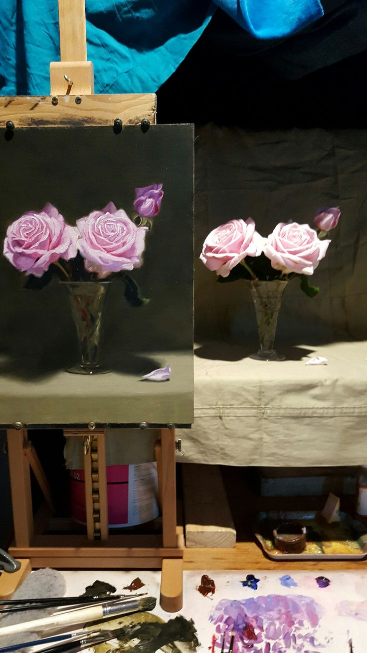 https://flic.kr/p/NHyX2i | Work in progress of The Childrens rose study by Vicki Sullivan | Children's rose study by Vicki Sullivan www.vickisullivan.com #Roses#Oilpainting#garden#Gardening#organicgarden#Childrensrose#flowerpainting#flowerart#Realism#Australianpainter#Australianpainting#Melbourneartist#morningtonpeninsulaartist