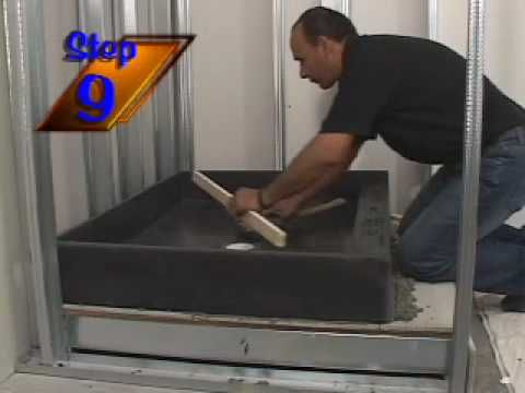 Tile Ready® Shower Bases and Shower Pans Installation Video 2009 - YouTube