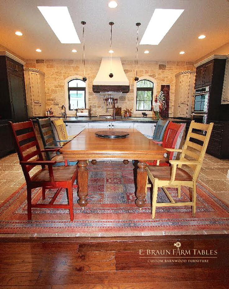 Chairs by E. Braun Farm Tables and Furniture, in the heart