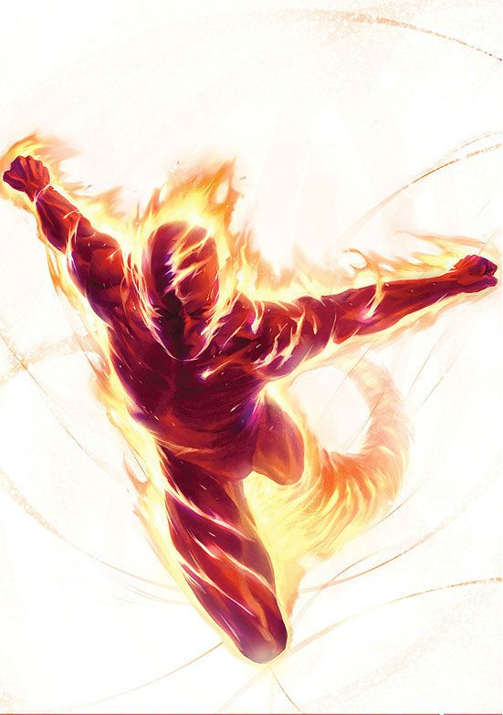 Human Torch (Jim Hammond) by Marko Djurdjevic