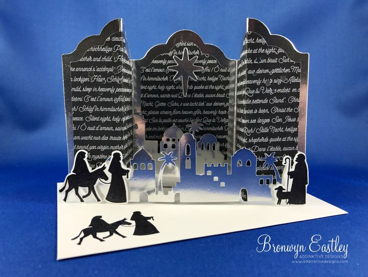 Night in Bethlehem, Lots of Labels, Bridge Fold Card, Fancy Fold, Tutorial, Stamping' Up! Holiday Catalogue 2017, #addinktivedesigns