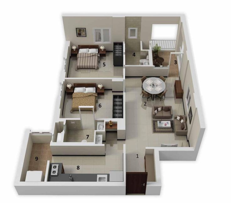 Two Bedrooms May Not Be A Mansion, But With The Right Layout It Can Be  Plenty Of Space For A Growing Family Or Even A Swinging Single.
