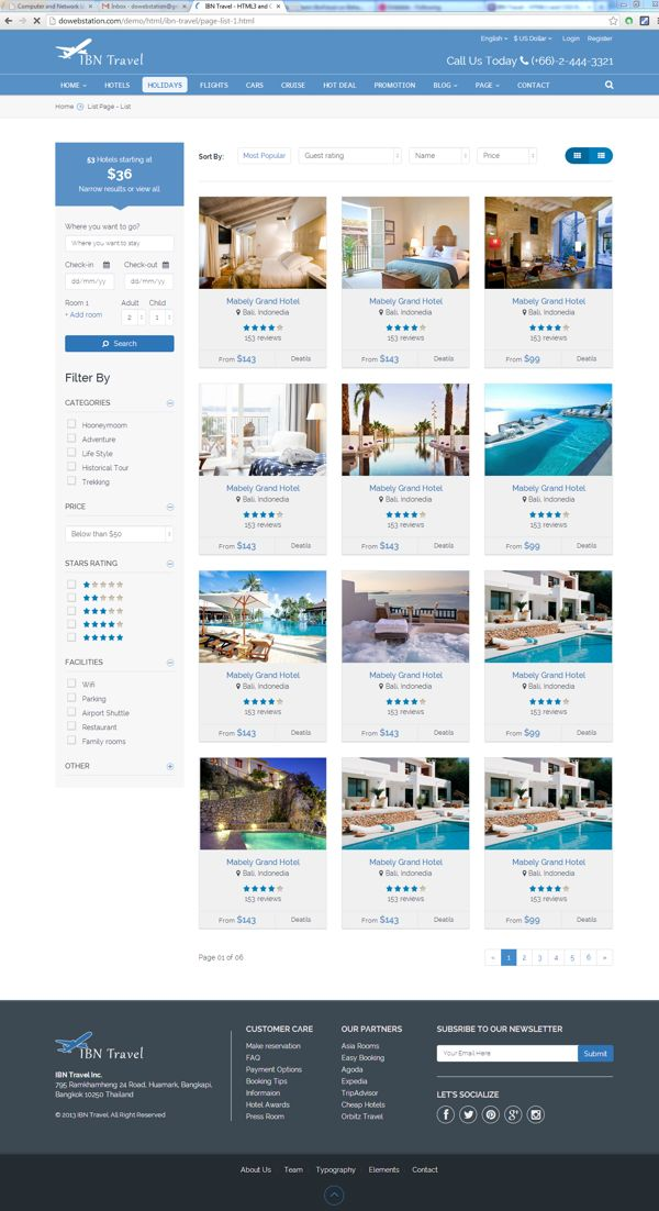 IBN Travel - HTML3 and CSS3 Responsive Template by Abd.Hakeem IbnFaisal, via Behance