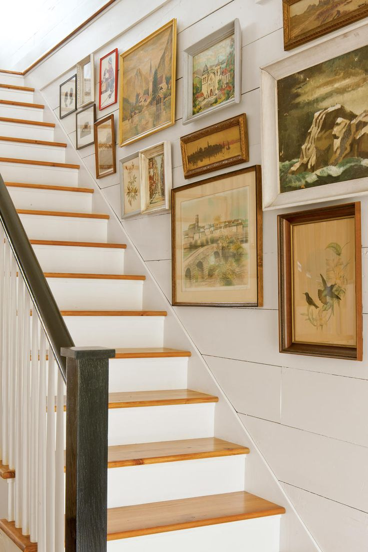 Shiplap Gallery Stair Wall | When it comes to adding cottage appeal to a home, few elements hold a candle to the power of shiplap. Beloved for its rustic charm and natural look, shiplap is a classic no matter whether it's painted, stained, or au natural. Take a look through our collection for inspiration on how to introduce this timeless look in your home.