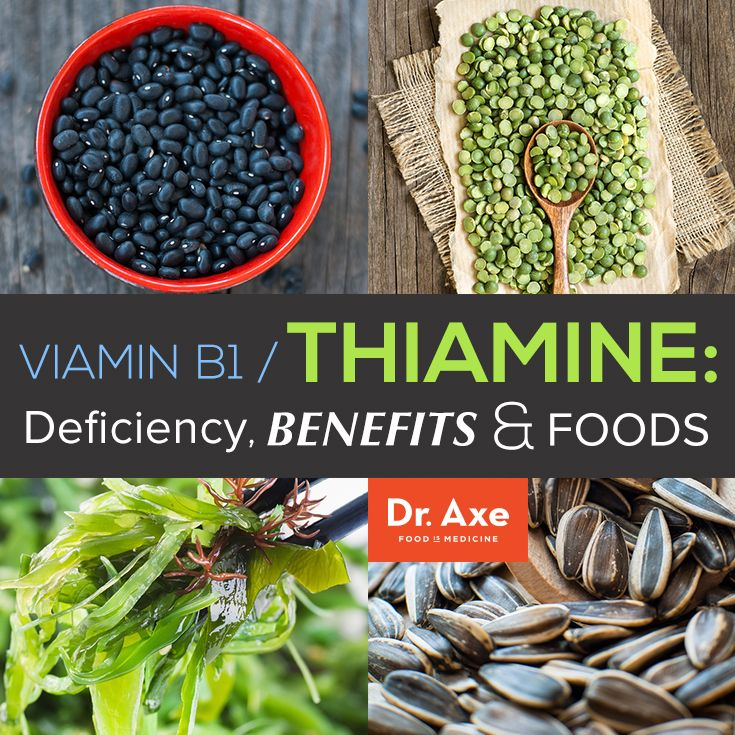 Vitamin-B1/Thiamine Deficiency, Benefits and Foods http://www.draxe.com #holistic #natural #health