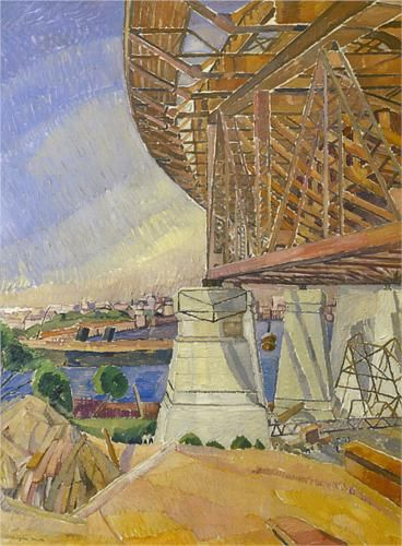 Grace Cossington Smith (1892 - 1984) | Post- Impressionism| The curve of the Bridge - 1929