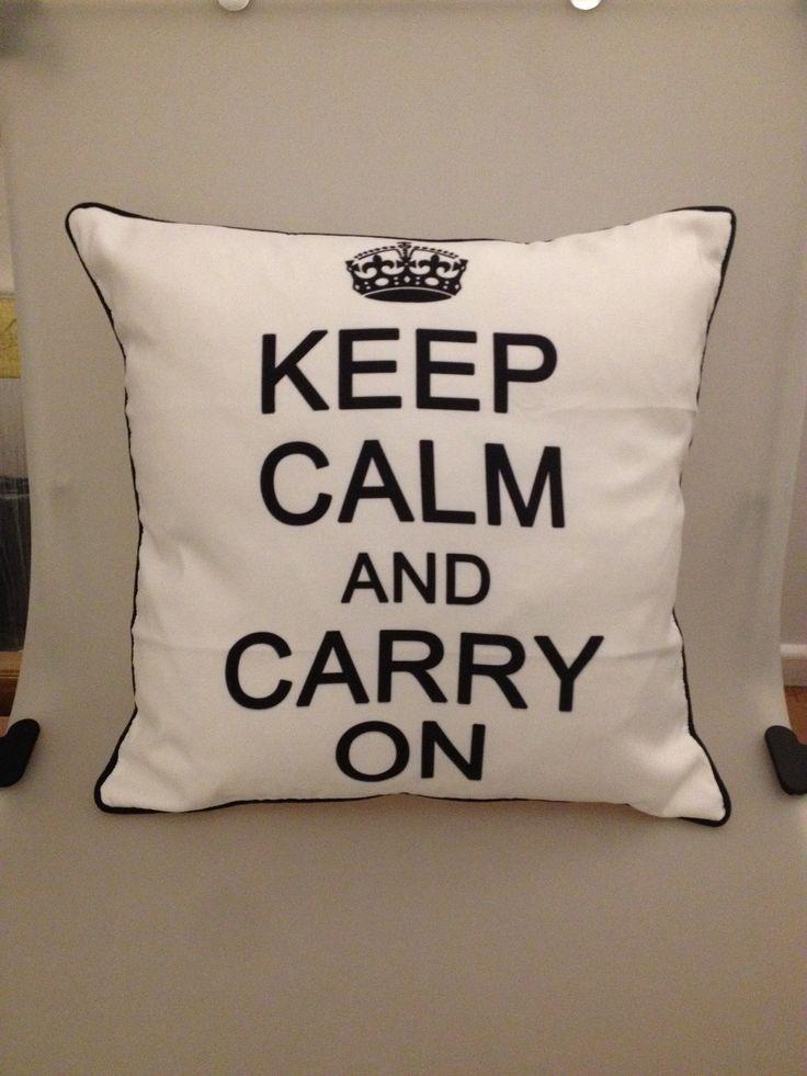 Keep Calm Blanco