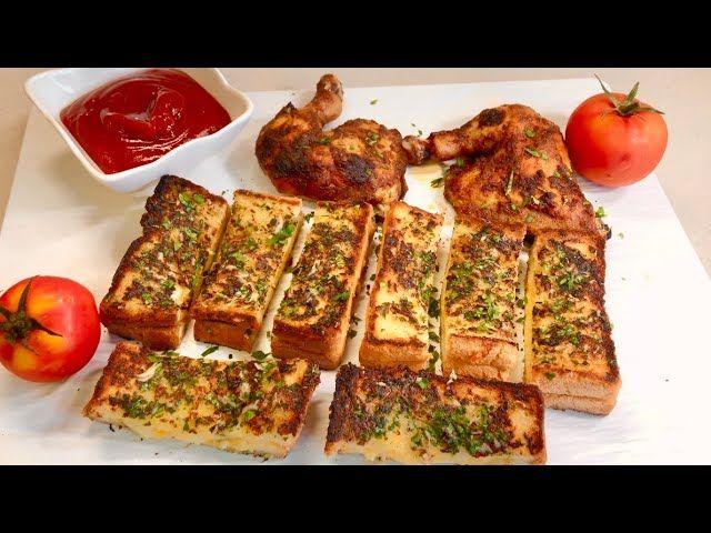 من وصفات المطاعم خبز الجبن والتوم Cheese Garlic Bread Food Garlic Cheese Bread Garlic Bread