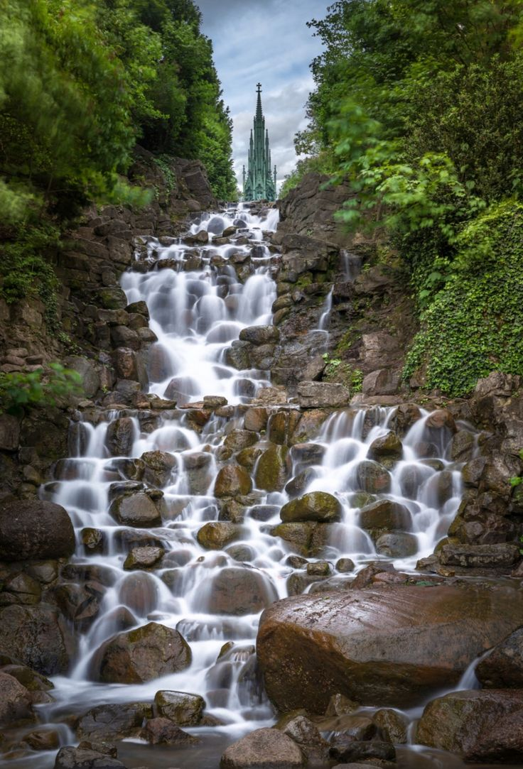 Waterfall at Victoria park Berlin. Photo by Sascha Gebhardt. Source Flickr.com
