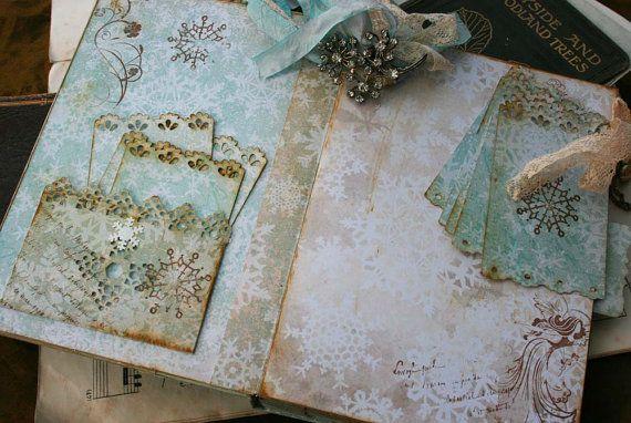 Wedding Guest book Winter Wonderland theme by youruniquescrapbook