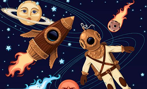Bilim Kurgudan Retro-Fütüristik Pazarlamaya Seyahat - NASA'nın retro-fütüristik posterleri, Philip K. Dick ve Jules Verne romanlarının eski kapaklarını anımsatırken içerik pazarlama ve reklamcılık açısından da oldukça ilham verici. #poster #blog #içerik #içerikpazarlama #content #marketing #reklamcılık #marketingTR