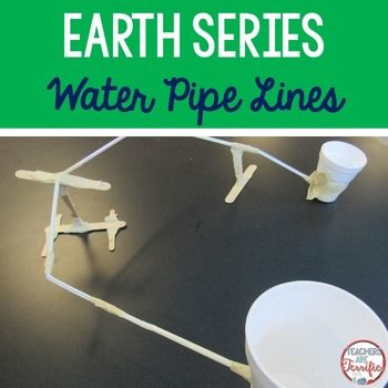 STEM Challenge: Heres a fantastic Earth Day challenge- that can be used all year long! Its a water pipeline event! NOTE: This challenge may be purchased in a money-saving bundle!In this challenge students will be using materials to design and a build a gravity powered water pipeline.
