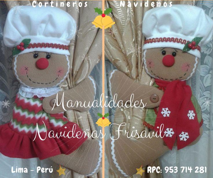 #cortineros Navideños 🎄🎅⛄ #decoracionnavideña #galletasnavideñas #manualidades #hechoamano