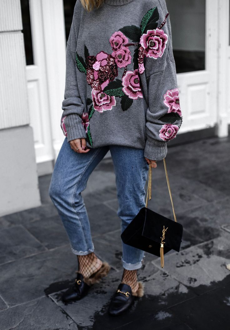 ENG: Probably no other sweater in recent times has caused such an sensation on Instagram like this grey, with flowers…