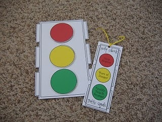 I actually tweeked this with one of my gift ideas and used it as a gift for a baptism I went to.  I used laughy taffy and bundled them together and on the red tied a note that stop and listen to the spirit, the yellow note side decide what to do, and then the green one said make the right choice and follow through with it