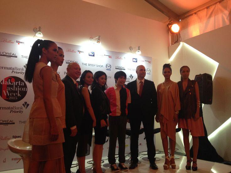 Indonesia Fashion Forward designers after Dulux show press conference for Jakarta Fashion Week 2015.
