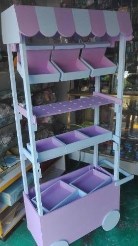 Carro Dulcero Mdf Candy Bar Mueble Dulces 1.70 M (sin Pintar - $ 980.00