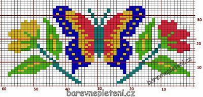 KLUBÍČKOV - Barevné pletení: Motýl a kytičky