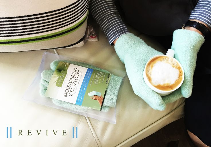 Gel Gloves + Coffee = <3 www.reviveglobal.com.au #skincare