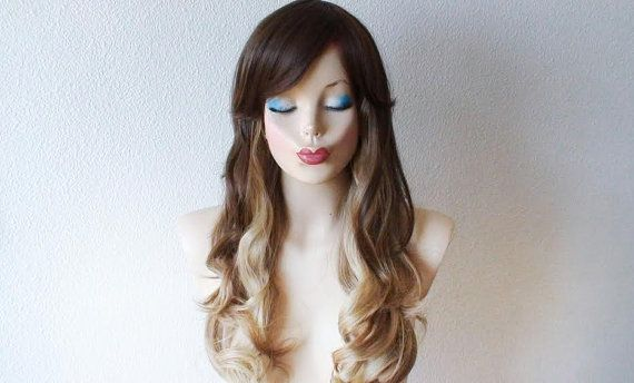 curly hair styles long 1000 ideas about ombre wigs on dyed hair 4763 | 80012ffd1b6da42b9dcde4763a68a157