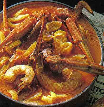 Bouillabaise. Just a wonderful fish stew / soup, the signature dish of Marseille.