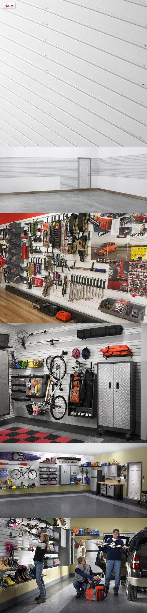 Gladiator GarageWorks GAWP082PMY GearWall Panels, 2-Pack, Gladiator GearWall panels are the ultimate in garage transformation--a heavy-duty, patent-pending slot-wall system designed to reclaim the floor and maximize storage capacity and flexibility., #Tools & Hardware, #Hardware