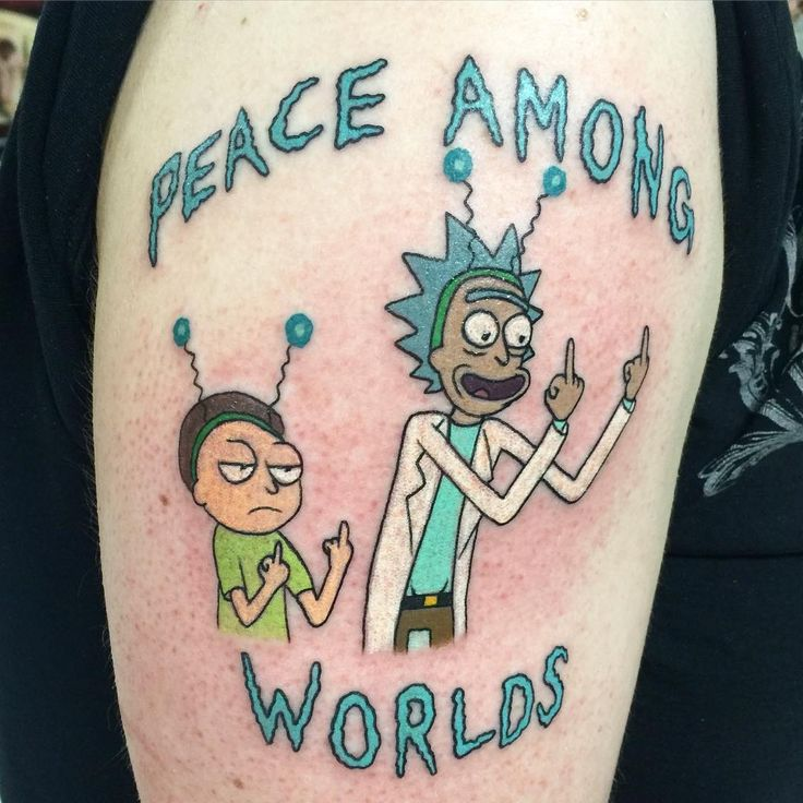 Did a Rick and Morty tattoo today!