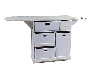 Mueble de plancha en dm y poli ster blanco proyecto - Mueble plancha plegable ...
