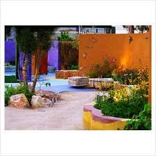 Image result for colourful garden wall