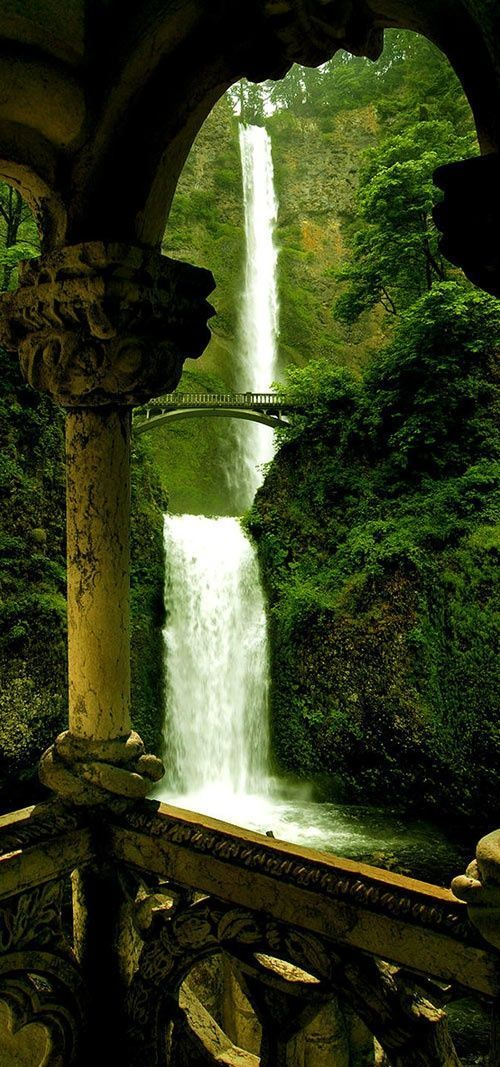 Double Falls, Silver Falls State Park, Oregon breathtaking waterfall beautiful landscapes