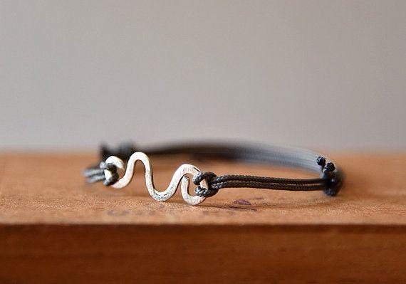 Men's bracelet Νautical bracelet Boyfriend gift Silver by BeadABoo