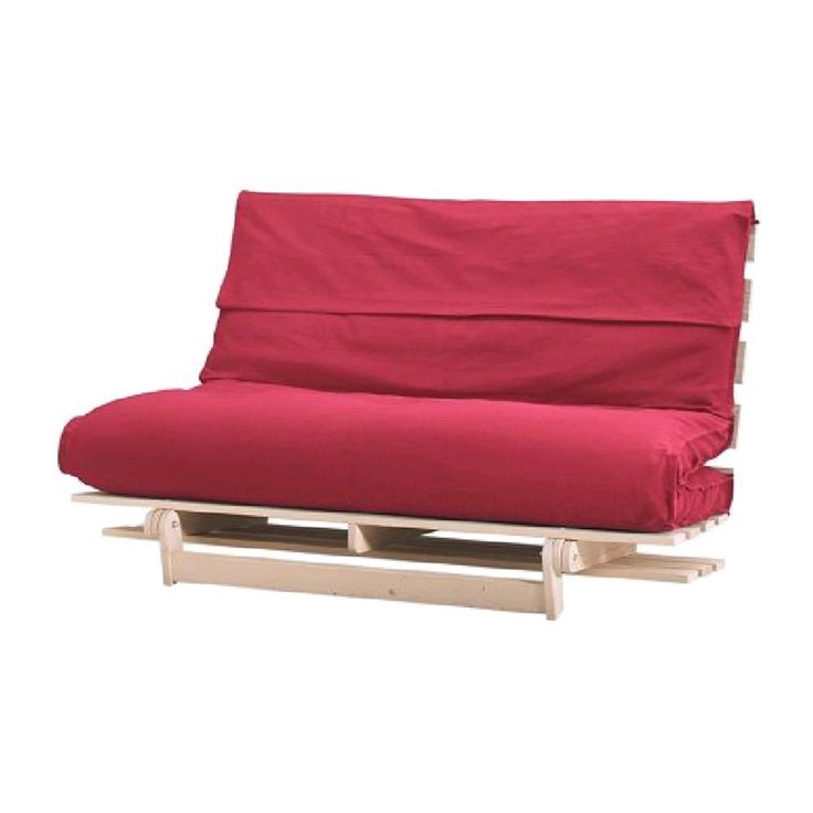 Furniture Astonishing Ikea Futon Mattress With Red Cover And Wooden Frame For Minimalist Living Room Exciting Mattresses Design Your