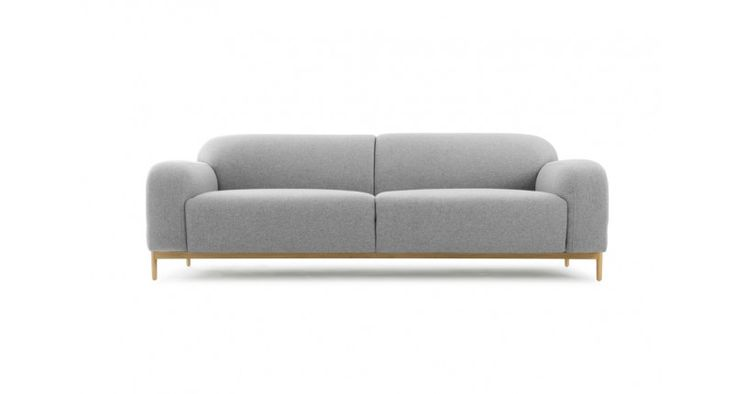 Marvin, 3-seater sofa, Andie light grey