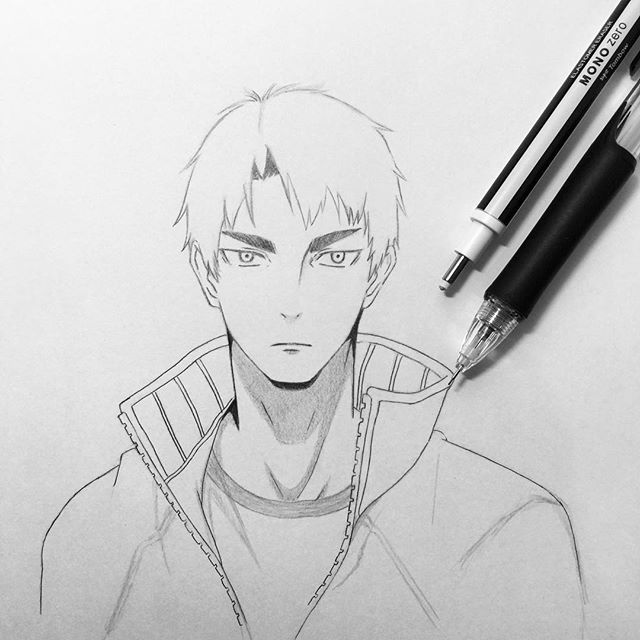 #wip Let's draw Ushijima Wakatoshi from Haikyuu, the hottest anime airing now this season  What do you think? I will update the next wips, stay tuned  #ushijima #ushijimawakatoshi #haikyuu #haikyu #haikyuuseason3 #haikyuufanart #haikyuuyaoi #haikyuuanime