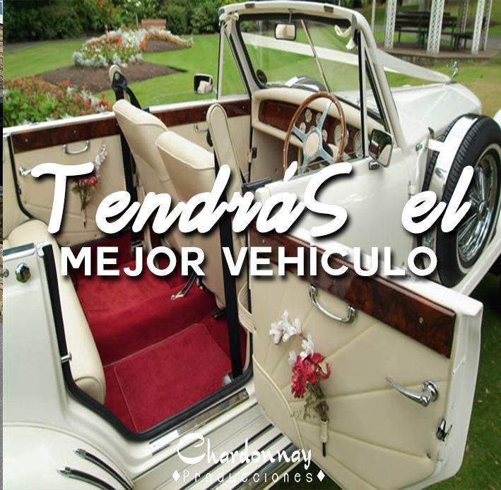 Conseguimos el mejor vehículo para tu Boda #chardonnayproducciones #weddingchile #Chile #boda