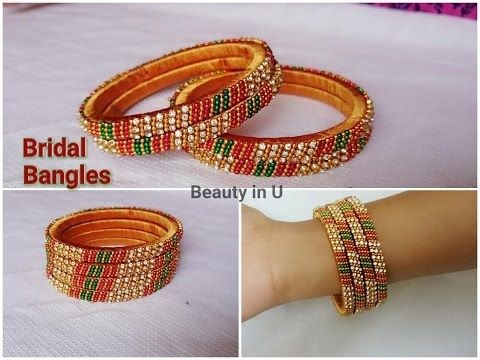 How to make Designer Bridal Bangles at Home | Tutorial 3 - YouTube